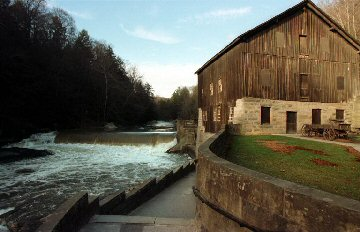 McConnell's Mill State Park: this is the closed mill on Slippery Rock Creek.