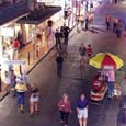New Orleans' famous Bourbon Street: Click for full-sized image
